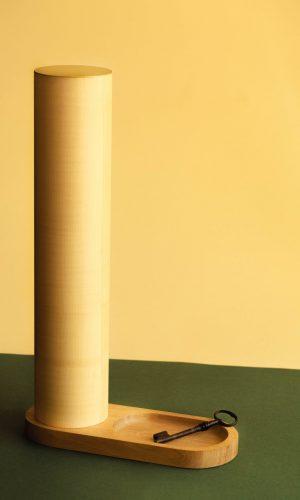 Lampe-luminaire- vide-poche - contemporain - ébénisterie- création sur mesure- objet design-affinités