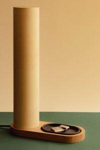 Lampe - luminaire - contemporain - ébénisterie- création sur mesure- objet design- désir - décoration - bois